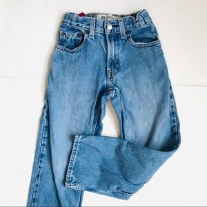 Boys GAP Kids Loose Fit Slim Blue Jeans